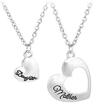 Tanwpn New Women Mother Daughter Necklace Heart Pendant Chain Necklace Jewelry Gift / Tanwpn New Women Mother Daughter Necklace Heart Pendant Chain Necklace Jewelry Gift
