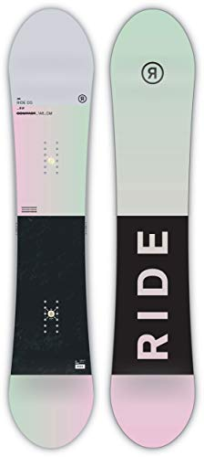 Ride Compact Snowboard 2019 Womens White Black 146 (The Best Snowboard 2019)