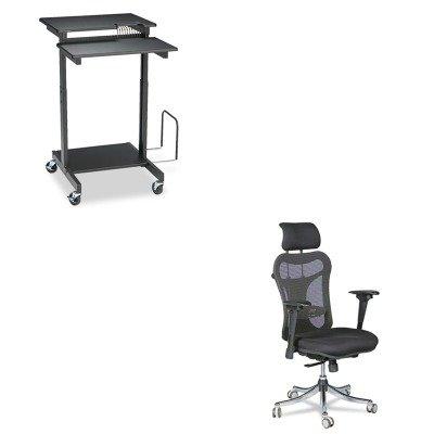 KITBLT34434BLT85052 - Value Kit - Balt Web A/V Stand-Up Workstation (BLT85052) and Balt Ergo Ex Executive Office Chair (BLT34434) by Balt (Image #1)
