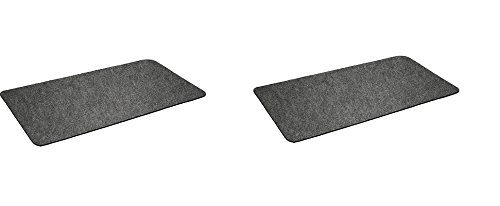 "Montana Grilling Gear Premium Grill Mat by for Gas or Electric Grill – Use this Absorbent Grill Pad Floor Mat to Protect Decks and Patios from Grease Splatter and Other Messes – 30"" X 48"" (2-Pack)"