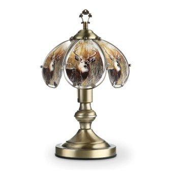 OK LIGHITNG OK-603AB-DE8-SP3 14.25 in. H Antique Bronze Touch Lamp by Wantech by Wantech