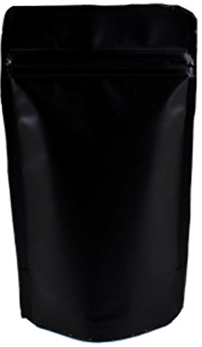 - Stand Up Pouch Bags, Food Safe Resealable Bags, Food Packaging Coffe Tea Reusable Bags (1oz, Matte Black, 50)