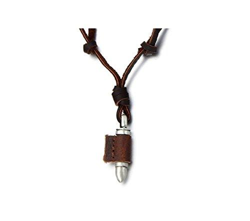 Most Beloved Unisex Vintage Bullet Pendant Necklace for Men Women with Adjustable Leather Cord from Most Beloved