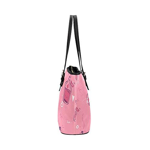 Handväska kvinnor barn ritning tecknad söt naive läder handväskor väska orsaksala handväskor dragkedja axel organiserare för dam flickor kvinnor väska crossbody kedja