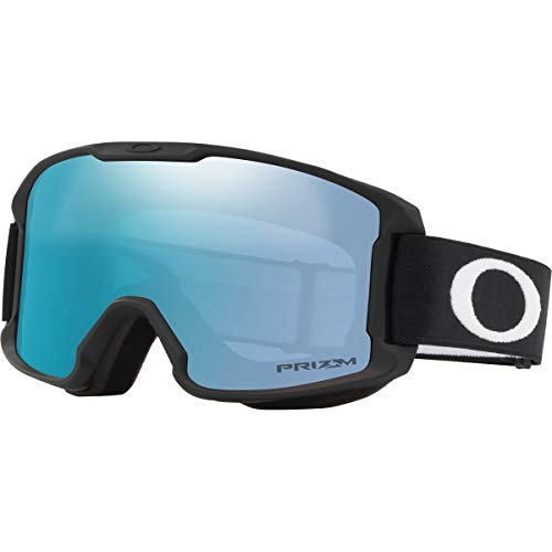 Oakley Line Miner Youth Snow Goggle, Matte Black, Small, Prizm Sapphire Iridium Lens (Youth Ski Goggles Oakley)