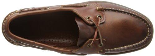 Sebago Docksides, Náuticos Para Hombre Marrón (Brown Oiled Waxy Lea)