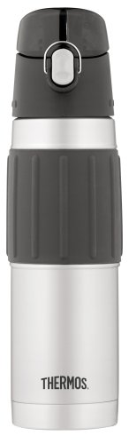 Thermos Vacuum Insulated 18 Ounce Stainless Steel Hydration Bottle, Stainless ()