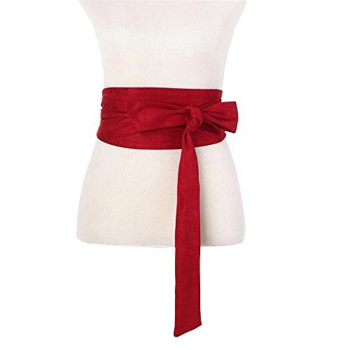 Women Wide Bow Obi Belt Sash Tie Cinch Waist ()