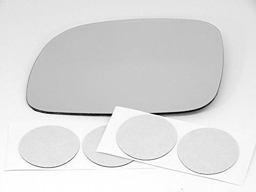 96-07 Chry Town & Country, Caravan, Grand Caravan, 00-03 Voyager, 96-00 Ply Grand Voyager, Left Driver Mirror Glass Lens w/Adhesive USA non heated (Voyager Plymouth Mirror)