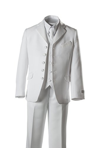 Boys 5 Button First Holy Communion Suit - White (Boys 7) - Holy Communion Suits