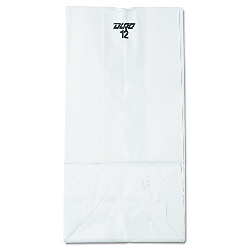 General GW12500 #12 Paper Grocery Bag, 40lb White, Standard 7 1/16 x 4 1/2 x 13 3/4 (Case of (White Grocery Paper Bag)