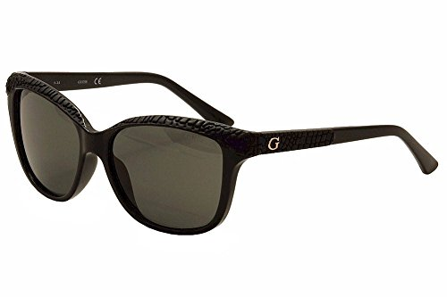 GUESS Women's Acetate Soft Cat-Eye Polarized Square Sunglasses, 01D, 56 - Uv Protection Sunglasses Guess