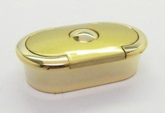 Quality Matte Gold Pill BOX Case Oval 3 Comparment