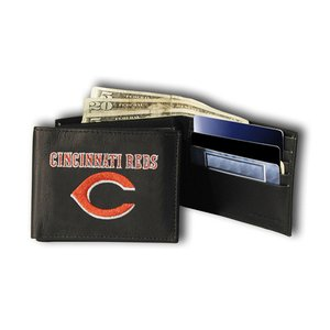 Rico Industries MLB Cincinnati Reds Embroidered Bifold Wallet