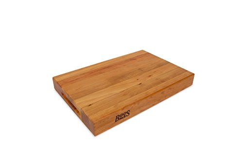 John Boos CHY-RA01 Cherry Wood Edge Grain Reversible Cutting Board, 18 Inches x 12 Inches x 2.25 Inches