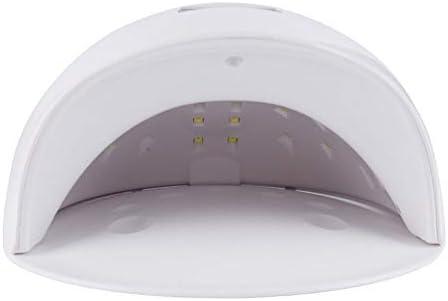 ネイルドライヤー サロンや家庭に適しジェルネイルドライヤーのための多機能ネイル光線療法ランプ ライト レジン用 硬化ライト (色 : 白)