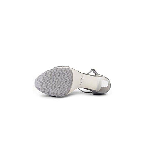 Hogan H247 Sandalo Cint+Imbott SV0 Argento Donna N. 37,5