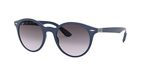 Ray-Ban Plastic Unisex Round Sunglasses, Matte Dark Blue, 49 - Ban Glasses Parts Ray
