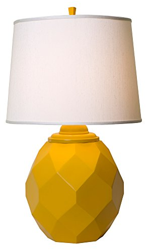 Thumprints 1169-ASL-2124 Jewel Table Lamp, Satin Yellow Finish