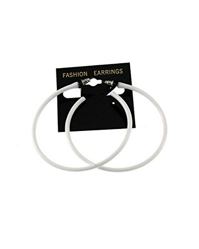 Zac's Alter Ego Women's Plastic Hoop Stud Earrings For Fancy Dress - 80S/ Pop/ Clubbers 6.5Cm Diameter - Raver 80s