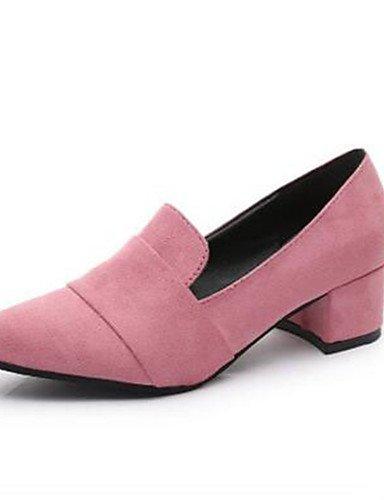 Schuhe GGX Heels 5 Büro Karriere Heels eu38 Synthetik 5 cn38 amp; Schwarz Kleid gray us7 Pink Chunky Absatz Damen uk5 Grau 5nXwHnFrf