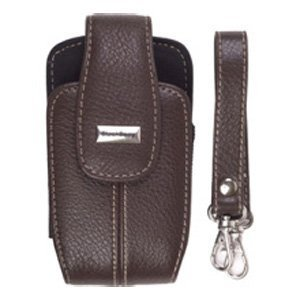OEM Blackberry Brown Leather Tote for Curve 8300 8310 8320 8330.
