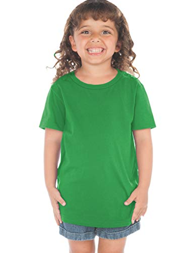 Kavio! Toddlers Crew Neck Short Sleeve Tee (Same TJP0494) Kelly Green 4T