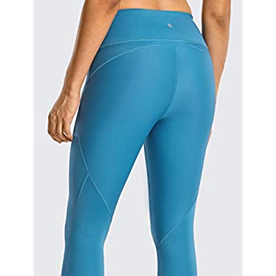 CRZ YOGA Non See-Through Athletic Compression Leggings for Women Hugged Feeling 7/8 Workout Running Tights-25 Inches: Clothing