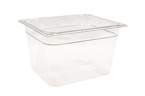 Rubbermaid Commercial Products FG126P00CLR Cold Food Pan, 8'' Deep Pan, 1/2 Size, Clear by Rubbermaid Commercial Products