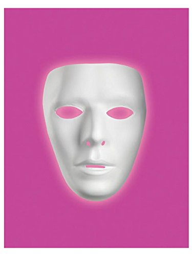 Male Blank No Face Plastic Mask