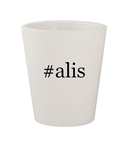 #alis - Ceramic White Hashtag 1.5oz Shot Glass