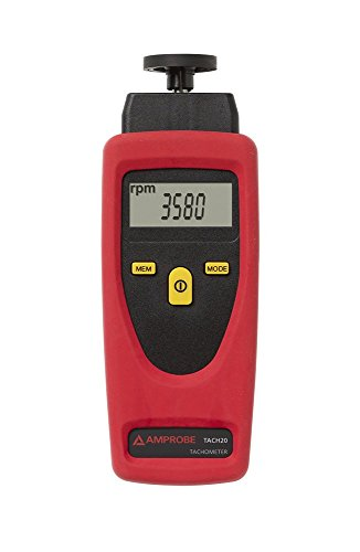 Amprobe TACH-20 Tachometer with Contact and Non-Contact Measurement