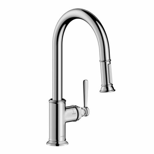 AXOR Montreux Luxury 1-Handle 16-inch Tall Kitchen Faucet with Pull Down Sprayer Magnetic Docking Spray Head in Chrome, 16581001