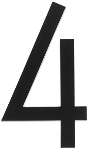 Hy-Ko Products FM-6/4 Floating House Number 4 (FOUR) 6 High Black