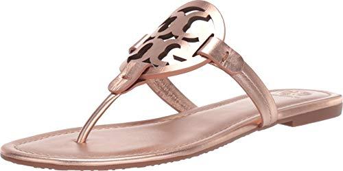 Tory Burch Women's Miller Metallic Leather Rose Gold Sandal - 9M ()