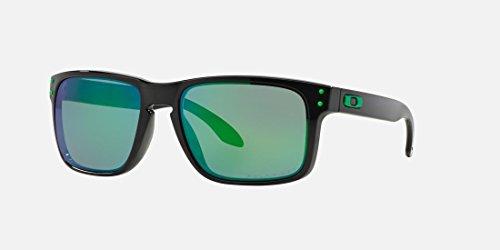 Oakley Holbrook Sunglasses Matte Black / Jade Irdium Lens