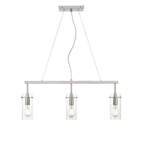 Effimero 3 Light Kitchen Island Hanging Fixture, Brushed Nickel, Linea di Liara LL-P331-BN by Linea di Liara (Image #1)