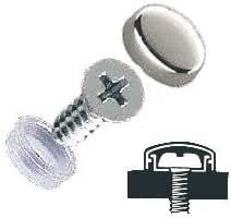 """3//8/"""" chrome snap caps screw covers for trim detail 10 pieces with base"""