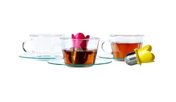 Ikea Vagrat Flower 2 Pack Floating Tea Infuser Brewer Ball Stainless Steel Hot Cold by IKEA: Amazon.es: Hogar