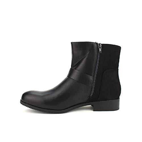 Cinks Noir Bottine Taille Femme Cendriyon Chaussures Grande Noire vPSnwpFC