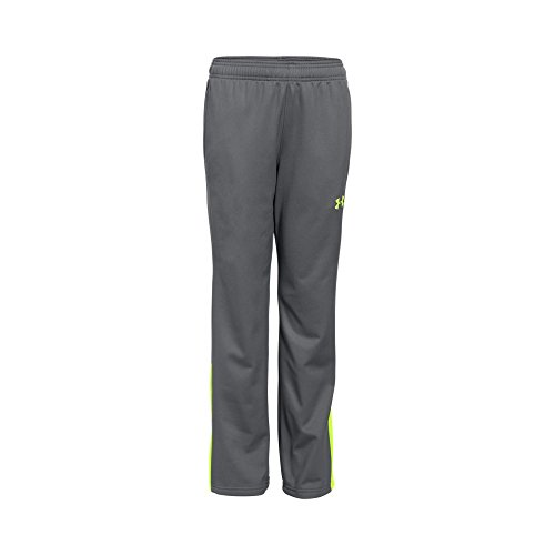 Under Armour Boys' Brawler Warm-Up Pants, Graphite/Fuel Green, Youth Large (Boys Nike Pants)