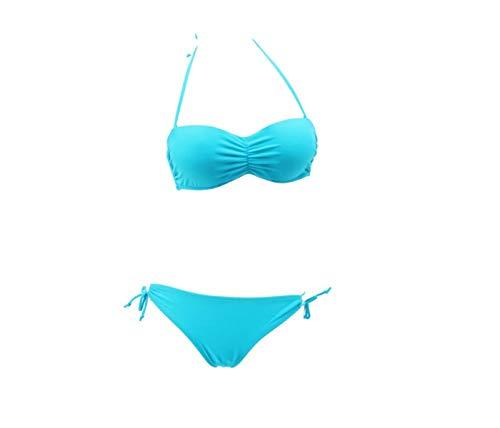 Bagno Donna Moda costumi Da Qiusa Blu L Alla costumi bikini Dimensione Bikini Bagno colore w0qzx4XR