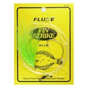 Fluke Fishing Lures (Fin Strike 565G Fluke Rigs Wide Gap)
