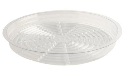 Pot Saucers, 14 inch, Clear Plastic, Case of 50 by Orchids R Us, Inc.