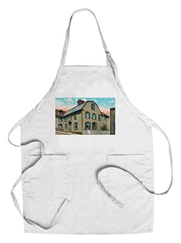 Salem, Massachusetts - Exterior View of Hawthorne's Birthplace (Cotton/Polyester Chef's Apron) ()