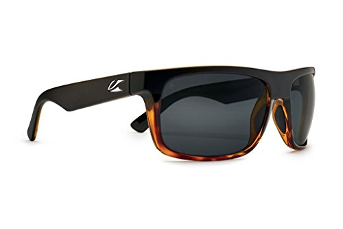 Kaenon Burnet Mid Sunglasses (Matte Black/Tortoise, Grey 12 - Polarized)