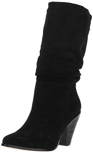 Chinese Laundry Women's Stella Mid Calf Boot, Black Suede, 8 M US