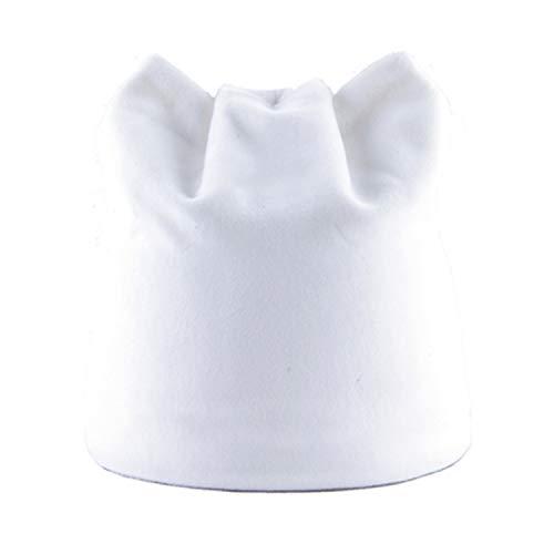 Bokun Women's Winter Hat Knitted Wool Beanies Female Hip Hop Caps Skullies Hats for Women White