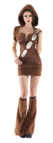 Party King Women's Space Companion 4 Piece Sexy Costume, Brown, Large (Sexy Movie Costumes)