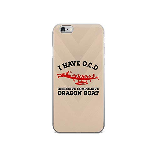 Cat Number Rules (iPhone 6/6s Pure Clear Case Cases Cover I Have OCD Obsessive Compulsive Dragon Boat)